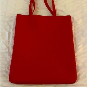 Distressed faux leather tote